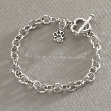 Silver Pet Loss Charm Bracelet | Someone Remembered